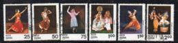 CI1755- INDIA 1975 , Yvert Serie N. 449/454 Usata   (2380A). Danze - India