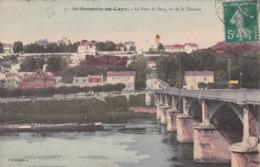 Saint Gerrmain En Laye Le Pont Du Pecq Vu De La Terrasse Péniche éditeur L Abeille N°3 - St. Germain En Laye