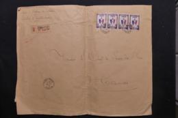 INDOCHINE - Affranchissement Plaisant Sur Grande Enveloppe En Recommandé De Tinh- Tuc En 1942 Pour Hanoï - L 43887 - Indochina (1889-1945)