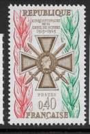 Yvert 1452 Maury 1452 - 40 C Croix De Guerre -  ** - Unused Stamps