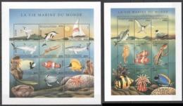 A878 1998 DES COMORES FISH & MARINE LIFE LA VIE MARINE DU MONDE 2SH MNH - Meereswelt