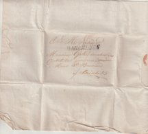 "ALLEMAGNE : R4 HAMBOURG . MARQUE POSTALE . POUR "" SAINTES "" . TAXEE . 1802 . - Hamburg"