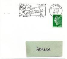 MARINE = 83 ST AYGULF 1973 = FLAMME Type II = SECAP Illustrée 'ETE - HIVER / Ses Plages' - Oblitérations Mécaniques (flammes)