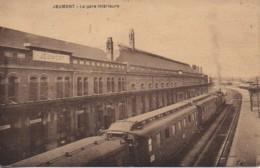 59 JEUMONT   La Gare Intérieure - Stazioni Con Treni