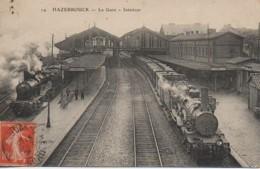 59 HAZEBROUCK  La Gare Intérieur - Estaciones Con Trenes