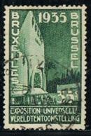 BELGIUM-BELGIQUE Y&T N°386 -  Brussels International Exhibition Of 1935 - Congo Pavilion - 35c - Used Stamps