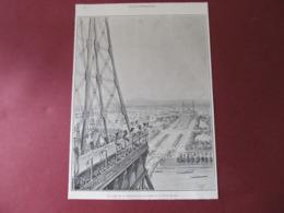 TOUR EIFFEL - EXPOSITION DE 1889 - COIN DEUXIEME PLATE-FORME / CAGE ASCENSEUR ROUX-COMBALUZIER- 1889. - Documentos Antiguos