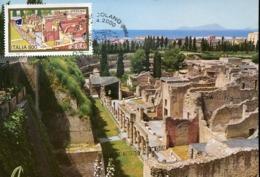 48029 Italia, Maximum 2000 Ercolano View Of The Excavations Excavation (pompei !) Volcano Vesuvio - Cartoline Maximum