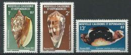 """Nle-Caledonie YT 446 à 448 """" Coquillages """" 1981 Neuf** - New Caledonia"""