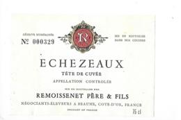 Etiquette  - ECHEZEAUX Tête De Cuvée - REMOISSENET Père & Fils -  - 1976 - - Bourgogne