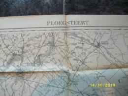 Topografische / Stafkaart Van Ploegsteert (Lille Quesnoy Tourcoing Nieppe) - Cartes Topographiques