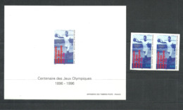 FRANCE   Olympics Olympic Games  Atlanta 1996, 100 Years Of Olympics  Imperf. Pair And Deluxe Sheet Rare! - Summer 1996: Atlanta