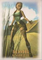 REF 434 : CPM Carte Publicitaire Jeu Video Retrogaming Lara Croft Tomb Raider N° 1 - Advertising