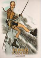 REF 434 : CPM Carte Publicitaire Jeu Video Retrogaming Lara Croft Tomb Raider N° 2 - Advertising