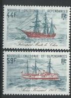 """Nle-Caledonie YT 459 & 460 """" Bateaux """" 1982 Neuf** - New Caledonia"""