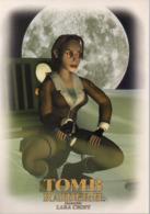 REF 434 : CPM Carte Publicitaire Jeu Video Retrogaming Lara Croft Tomb Raider N° 3 - Advertising
