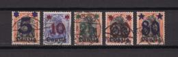 Danzig - 1920 - Michel Nr. 16/20 - Gest. - 22 Euro - Danzig