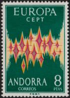 ~~~ Andorre Andorra 1972 - Europa CEPT - Yv. 64A ** MNH  ~~~ - 1972
