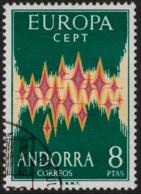 ~~~ Andorre Andorra 1972 - Europa CEPT - Yv. 64A (o)  ~~~ - 1972