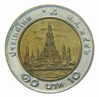 [NC] TAILANDIA BIMETALLICA 10 BATH 1994 (nc4546) - Tailandia