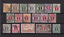 Danzig - 1921/22 - Sammlung - Gest./Ungebr. - Danzig