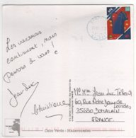 """Beau Timbre """" Maillot De Football """" Sur Cp , Carte , Postcard  Pour La France - Kap Verde"""