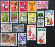SINGAPOUR LOT DE 18 TIMBRES - Singapour (1959-...)