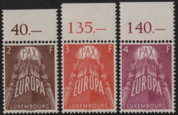 ~~~ Luxembourg 1957 - Europa CEPT - Yv. 531/533 ** MNH Avec Bord De Feuille - Cate 170.00 Euro   ~~~ - 1957