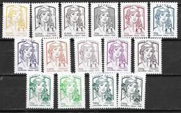 France 2013 N° 4763/4777 Neufs Marianne De Ciappa Faciale -10% - Frankrijk