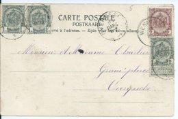 Fantasiekaart Met OCB 533x) -55 - Afstempeling WESPELAER - COBA 8 - 1893-1907 Wappen