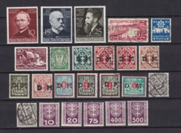 Danzig - 1922/39 - Dienst. U. Portomarken - Sammlung - Gest./Ungebr. - Danzig