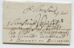 BELGIQUE - DE ST TROND MANUSCRIT SUR LETTRE AVEC TEXTE POUR LA FRANCE, 1778 - 1714-1794 (Austrian Netherlands)