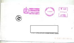 Lettre Flamme Ema Paris Chambre Commerce Industrie - EMA (Print Machine)