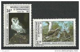 """Nle-Caledonie YT 479 &480 """" Rapaces """" 1983 Neuf** - New Caledonia"""