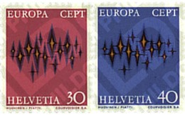Ref. 62228 * MNH * - SWITZERLAND. 1972. EUROPA CEPT. COMMUNICATIONS . EUROPA CEPT. COMUNICACIONES - Unclassified