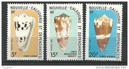 """Nle-Caledonie YT 481 à 483 """" Coquillages """" 1984 Neuf** - Ungebraucht"""