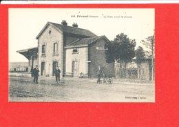 80 FRICOURT Cpa Animée La Gare Avant La Guerre             358 Cliché Lelong - France