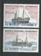 """Nle-Caledonie YT 484 & 485 """" Bâteaux """" 1984 Neuf** - Ungebraucht"""
