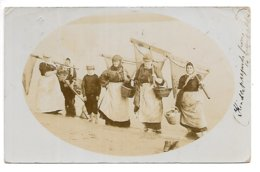 Carte-photo...pecheuses De Crevettes Anglaises....animée....1908.... - Pêche