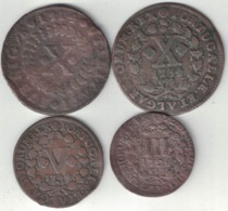 Portugal Collection Of 4 Coins 1714-1744 All Listed & Different - Portugal