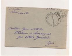 FRANCE 1940  ENVELOPPE F.M. DU 81 ème RÉGIMENT RÉGIONAL ADRESSÉE A LA COMTESSE D'ALBIS (GERS ) - Marcophilie (Lettres)