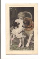 PETITE FILLE AVEC SES CHIEN ET CHAT - '(Ses Petits Chers N°4010 ) - - Portraits