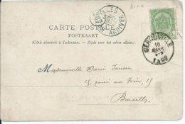 Zichtkaart GEROUVILLE Met OCB 56 - Afstempeling GEROUVILLE - COBA 30 - 1893-1907 Armarios