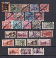 Saargebiet - 1922/34 - Dienstmarken - Sammlung - Gest./Ungebr. - 1920-35 Saargebiet – Abstimmungsgebiet