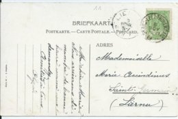 Fantasiekaart Met OCB 56 - Afstempeling GRAND LEEZ-THOREMBAIS - COBA 8 - 1893-1907 Armarios