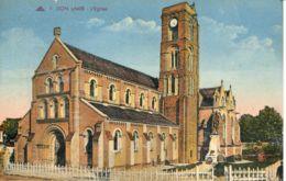 N°77213 -cpa Lion Sur Mer -l'église- - Autres Communes