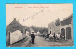 CPA MEVERGNIES Animée : Route D' Attre Et Four à Chaux - Circulée - Ed. Descamps Legrand, Stembruges - 2 Scans - Brugelette