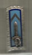 Insigne , ECOLE DES SOUS OFFICIERS D'ACTIVE ,4 Scans , Fraisse,Paris , G1987 , Frais Fr 1.85 E - Army