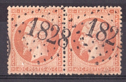 Napoléon III - Paire Du N° 23 - GC 1828 Isigny (Calvados) - Marcofilie (losse Zegels)