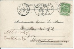 Zichtkaart Heist Met OCB 56 - Afstempeling HEYST-SUR-MER / ST.NICOLAS / LIERRE - 1893-1907 Armarios